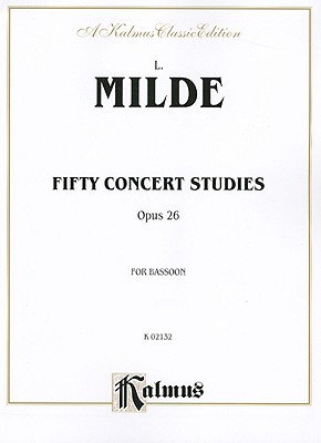 Fifty Concert Studies, Op. 26 By Milde, L. (COP)